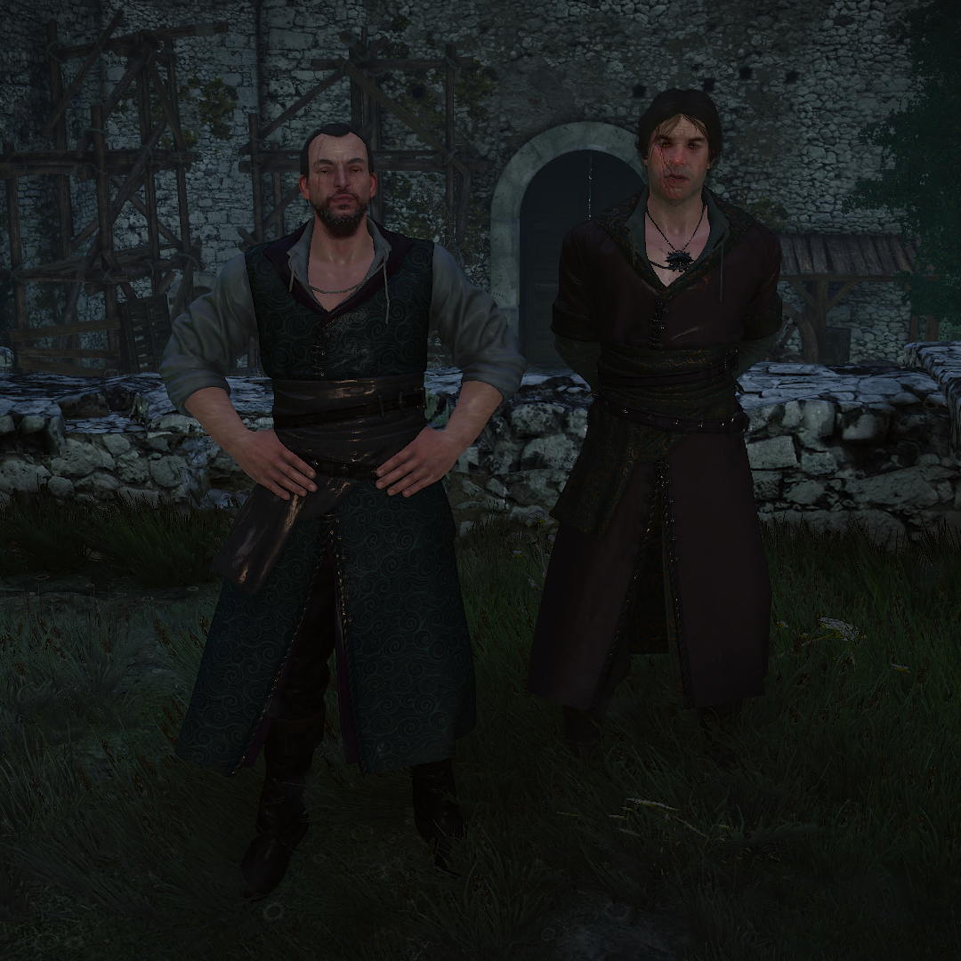 Searching for 'witchers being forced into formal wear'